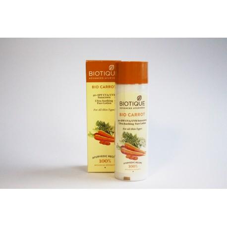 Солнцезащитный лосьон для лица и тела с морковью